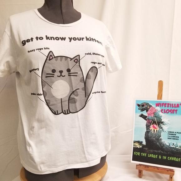 XL Hot Topic Black Matter Pusheen Kitten T Shirt